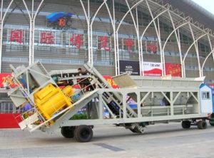 AIMIX Planta De Concreto Portátil En La Exposición