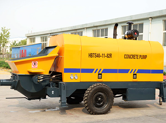 HBTS40-SR Bomba De Concreto Estacionaria De Diesel En Aimix Grupo Para Trabajadores