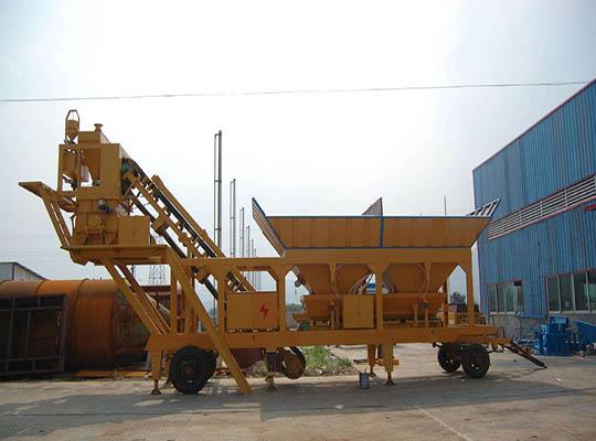 Una Planta Móvil De Concreto Con Una Capacidad 90 m3/h