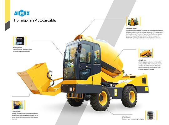 Aimx auto hormigonera tiene una estructura confiable