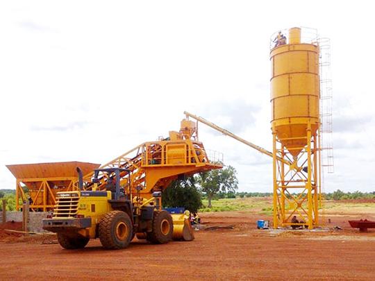 AJY-25 AIMIX Planta De Concreto Portátil En Venta