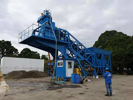 Planta De Concreto Móvil De AIMIX En Las Filipines