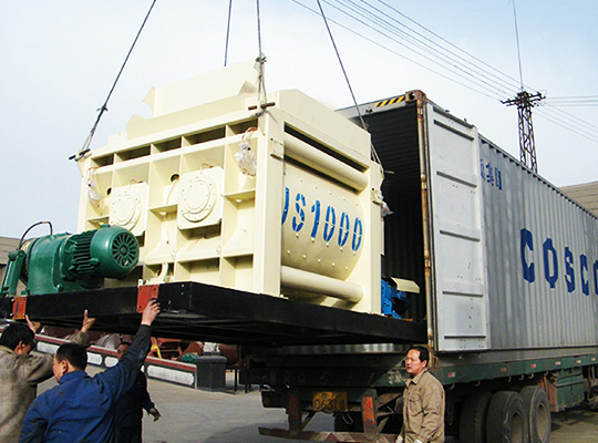 Embalaje De AIMIX JS1000 Máquina Concretera