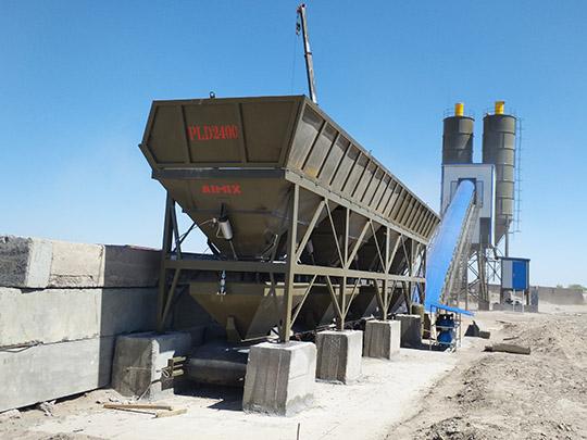 AIMIX AJ-90 Planta De Concreto Instalado En Uzbekistán
