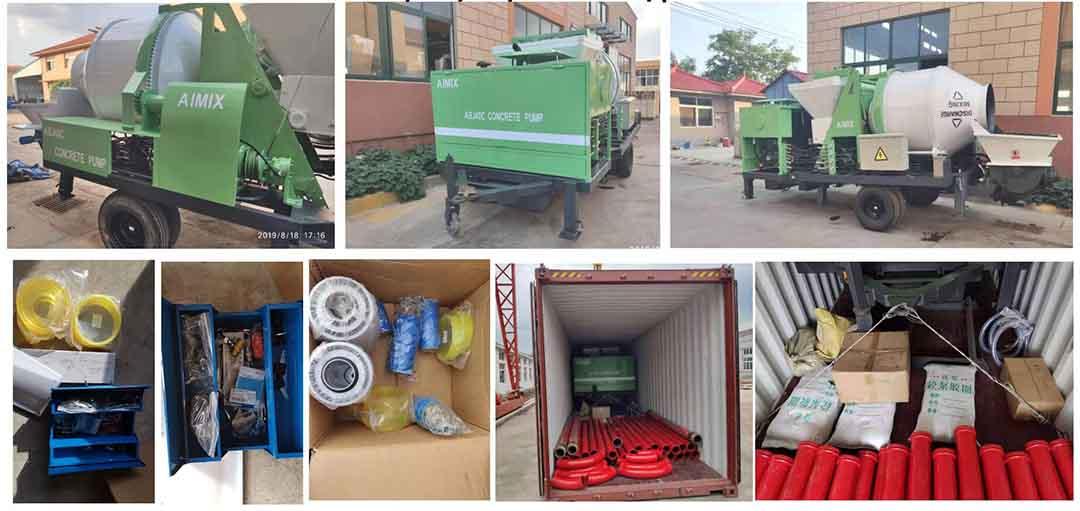 AIMIX Bomba Mezcladora De Concreto Exportada A Perú