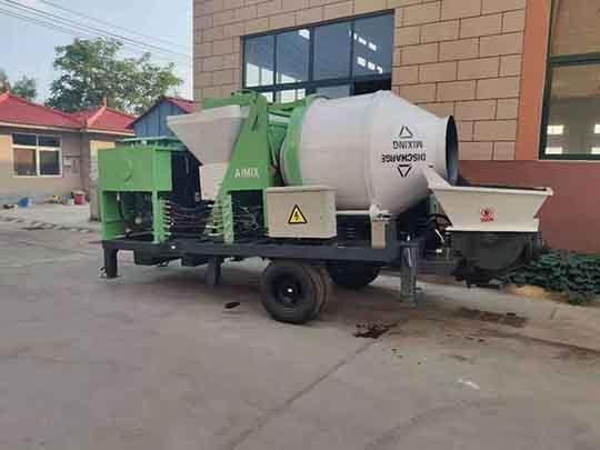 Bomba Mezcladora De Concreto Diesel