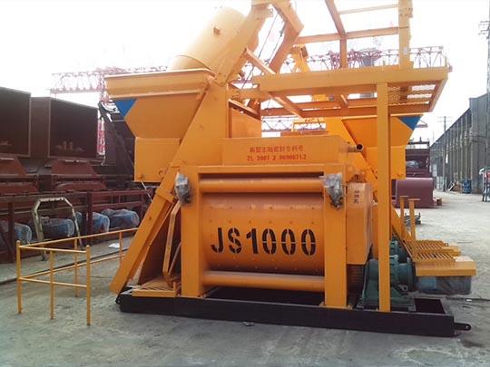 JS1000 Mezcladora De Hormigón De Double Eje