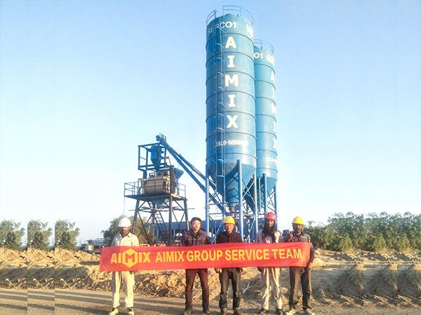 AIMIX AJ35 Planta De Concreto Exportada A Pakistán