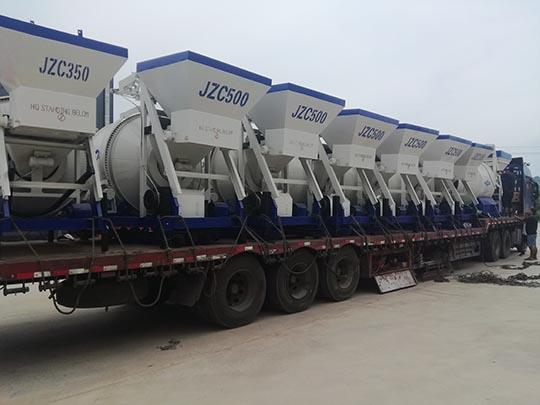 Máquina Mezcladora de Concreto Tipo Tambor Exportó A Uzbekistán