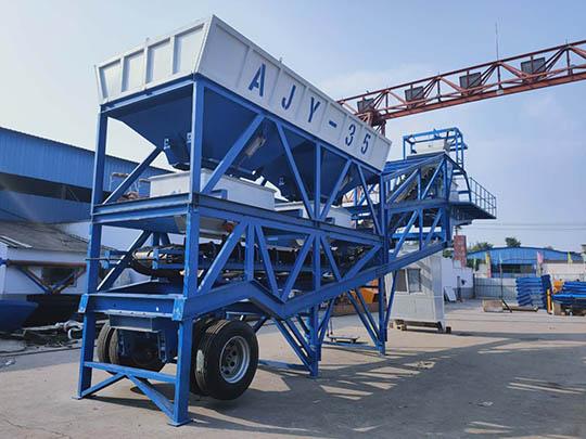AJY-35 Planta Mezcladora de Concreto Portátil