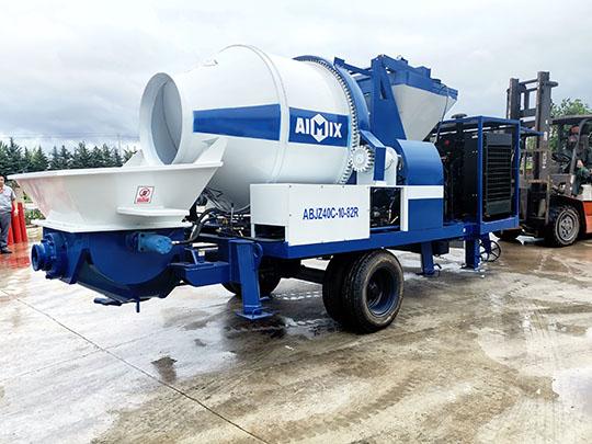 AIMIX Bomba Mezcladora de Concreto Diesel Profesional