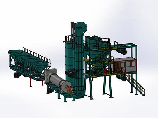 AIMIX Planta de Asfalto Portátil de Modelo ALYQ80