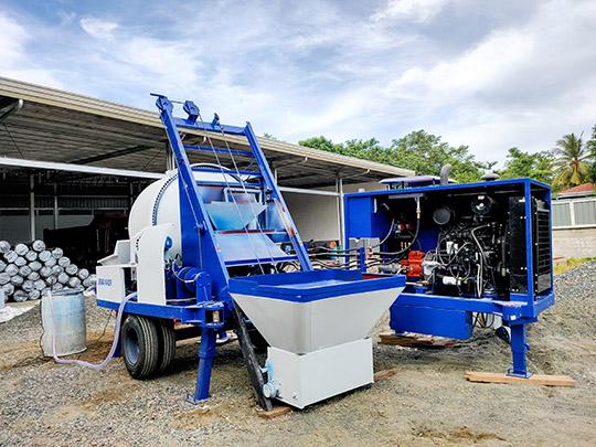 Bomba Diesel de Concreto con Hormigonera de Mejor Calidad