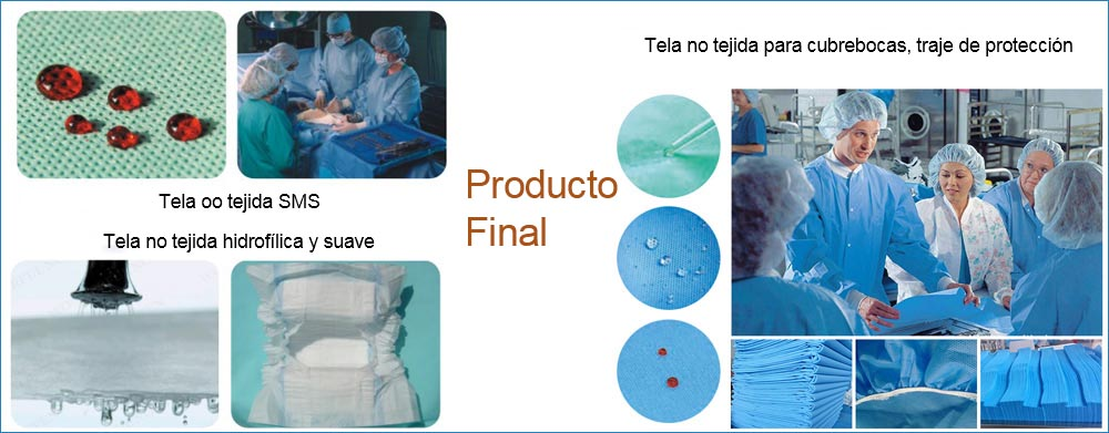 Productos Finales de Tela No Tejida Meltblown