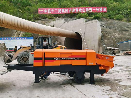 Bomba Estacionaria De Concreto Para Túneles